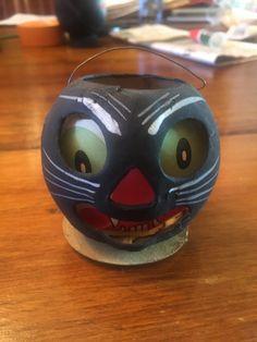 Antique Black Cat Lantern by WeaverVintageCharm on Etsy