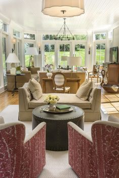 New Traditional Open Family Room By R. Cartwright Design