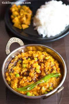 Bhaja Muger Dal recipe with step wise photos. A sumptuous bengali style dal with vegetables and roasted coconut that could be served with rice. Veg Recipes, Slow Cooker Recipes, Indian Food Recipes, Cooking Recipes, Ethnic Recipes, Recipe Basket, Moong Dal Recipe, Food Hub, Bengali Food