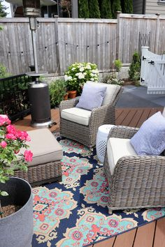 Backyard Makeover with Trex Deck over Concrete Patio: Before & After - The Inspired Room Outdoor Furniture Sets, Outdoor Decor, Outdoor Spaces, Outdoor Ideas, Outdoor Living, Patio Makeover, Best Kitchen Designs, Home Scents, Building A Deck
