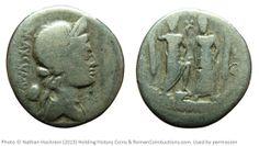 Roman Republic Egnatius/Maximus AR Denarius Rome, 76 BC Size: 19mm, 3.5g Obv: MAXSVMVS. Laureate bust of Liberty right. Small Liberty cap behnd. Rev: Roma and Venus standing, facing, Cupid between them. Ref: Egnatia 2.