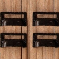 Antique Farmhouse-Cast Iron Drawer Pulls with Card Slot (set of 4) $15.00