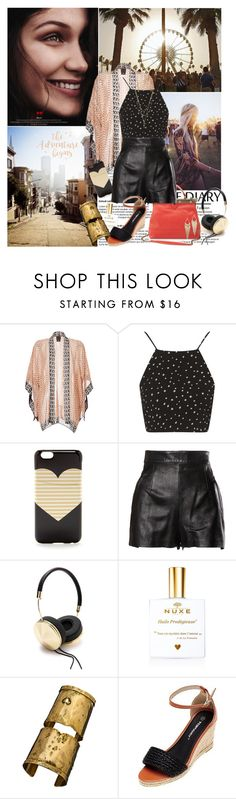 """""""Coachella"""" by amethystes ❤ liked on Polyvore featuring Été Swim, Anna Sui, Topshop, J.Crew, Moschino, Jules Smith, Frends, Citrine by the Stones and kimono"""