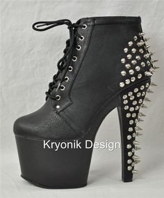 fa658c03a5a Pleaser Fearless-700-28 stiletto heel ankle lace up platform spiky boots  Stiletto Heels