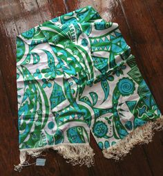 Five dollar shipping  6 foot long Green Blue Scarf by presleypigs, $32.00