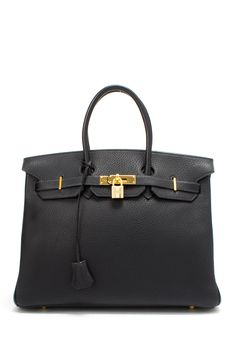 Vintage Hermes Leather Birkin 35 Handbag on HauteLook---normally I think this bag is overrated, but I like the love the silhouette of this bag. And gold doesn't hurt either #hermes #birkin #bigadditions
