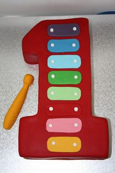 Xylophone first birthday cake