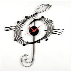 Music Clef Wall Clock