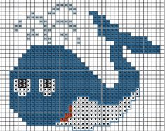 Whale hama perler beads pattern - Crochet / knit / stitch charts and graphs