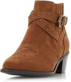 Head Over Heels *Head Over Heels by Dune 'Paxx' Brown Ankle Boots