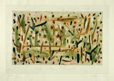 Paul Klee 'Lichter Wald' (Luminous Forest [my own translation g.s.]) 1934 Oil color and pencil on paper on cardboard