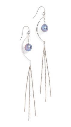 Chan Luu Freshwater Cultured Pearl Chain Earrings