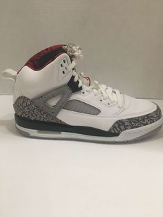 more photos 6c179 623c1 Jordan Spizike Big Kids 317321-122 White Cement Grey Red Shoes Youth Size  7Y