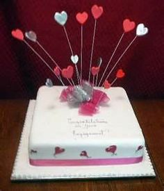 lovely for valentines day Engagement Cakes, Cake Pictures, Bing Images, Valentines Day, Dream Wedding, August 25, Party, Desserts, Cake Ideas