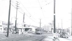 (1952) Westbound at La Cienega & Santa Monica