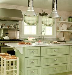Vintage mint green  Kitchen | ... looking for kitchen ideas and these kitchens are full of them
