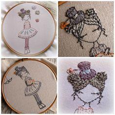 pastels and pumpkins hand embroidery pdf pattern par LiliPopo