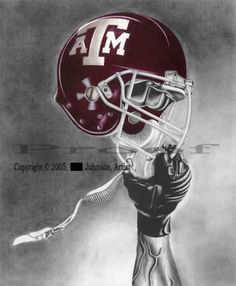 ATM-1Texas Aggies Football    ...reflects Aggie Team Spirit and Pride    Open Edition Football Art Print    Artist: Johnson