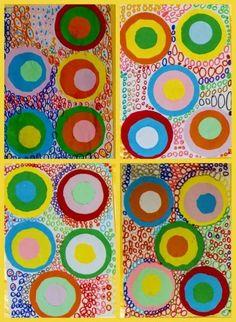 Line Art For Kids Geometric Shapes Ideas Kindergarten Art, Preschool Art, Arte Elemental, Dot Day, Yayoi Kusama, Circle Art, Shape Art, Geometric Lines, Kandinsky
