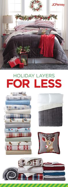Tap to Shop!// Holiday guests are arriving soon. Creating the  ultimate guest room in one stop is quick and simple with the JCPenney Home Department.  Start with fresh sheets and towels. Next, add unexpected extras—an alarm clock, a scented candle, jewelry tray, luggage rack, hangers, and fresh bath products—to make your guests feel right at home. Guest room success is yours!