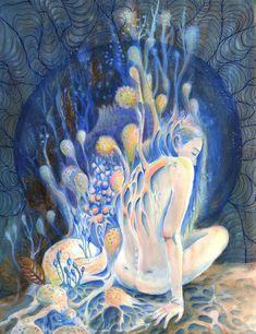 "vufus: "" ""Seeking Skin and Earth"" Artist: Autumn Rozario "" Psy Art, Expressive Art, Human Art, Visionary Art, Fantasy, Doodle Art, Art Boards, Bunt, Art Inspo"