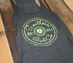 #SouthernGirlCo #SouthernGirl #FromTheSouth #ShotgunShell #tank #TankTop #Southern #preppy #college @southerngirlco.com