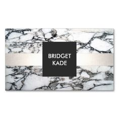 Elegant Interior Designer Black and White Marble Business Card. Great card for interior designers, event planners, beauty consultants, hairstylists, chefs, fashion boutiques and more. Fully customizable and ready to order.