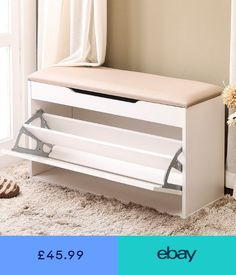 ONEISALL Shoe Rack Bench for Entryway, Shoe Cabinet Bench Wooden Storage with Seat Cushion Shoe Rack Cupboard - Schuh schrank Shoe Rack Cupboard, Shoe Cabinet Entryway, Shoe Cabinet Design, Shoe Rack Bench, Shoe Storage Furniture, Diy Storage Bench, Home Furniture, Rack Design, Bedroom Decor