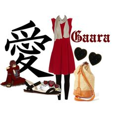 Casual cosplay of Gaara of the Sand (from Naruto anime series)-- character inspired outfit