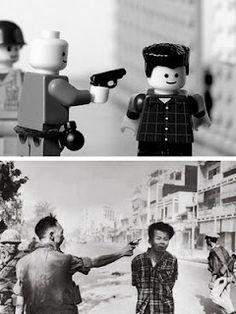 Mike stimpson recreates famous photographs using lego, paying a lot of attention to the smallest of details. www.mikestimpson.com