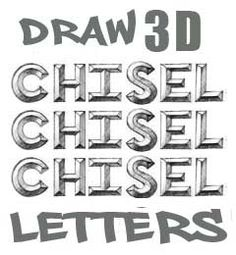 Step by step 3d chisel letters
