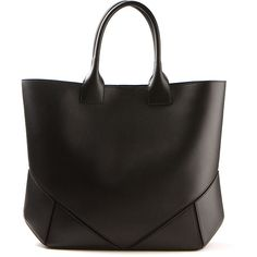 Givenchy black leather tote bag (57,070 INR) ❤ liked on Polyvore featuring bags, handbags, tote bags, purses, bolsas, accessories, leather hand bags, leather tote handbags, leather purses and man bag