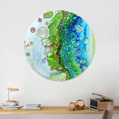 Discover «lilly pond», Exclusive Edition Disk Print by Annemarie Ridderhof - From 80€ - Curioos