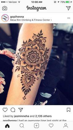 634 likes, 1 Comments – Gopi Henna on: Last night I had a great … Mehndi Tattoo, Henna Tattoos, Tatoo Hindu, Henna Mehndi, Paisley Tattoos, Henna Designs Arm, Mehndi Designs For Hands, Henna Tattoo Sleeve, Mandala Tattoo