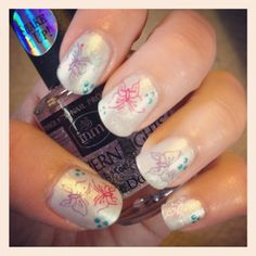 Butterfly nail art. Love this liz you got to try this some time