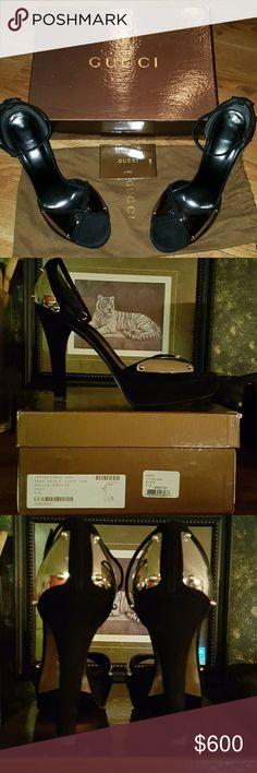 GUCCI Authentic, beautiful platform 8.5 GUCCI Authentic 8.5 mint condition. I try this beautiful amazing shoes few times in my closet, but I'm SZ 7.5-8 plus I have a problem in in my ankle, so I just accepted my reality. I hope someone else can have a luxury fun with this beautiful GUCCI. Gucci Shoes Platforms