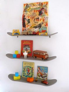 skateboard shelves.cute.