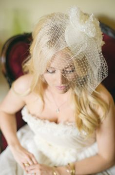 Two Layered Birdcage Bridal Veil