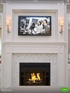 Client Inspiration: Fireplace Surrounds & Built-ins – Home living color wall treatment kitchen design Tv Over Fireplace, Fireplace Redo, Fireplace Built Ins, Bedroom Fireplace, Fireplace Remodel, Living Room With Fireplace, Fireplace Surrounds, Fireplace Design, Fireplace Ideas