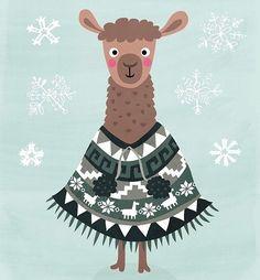 Vicuña Alpacas, Christmas Illustration, Graphic Illustration, Llama Gifts, Christmas Art, Scrapbook, Bunt, Sheep, Stickers