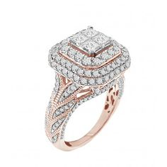 Buy Discount Halo Diamond Rings Online With No Credit Needed Leasing Rose Gold Diamond Ring, Green Diamond, Halo Diamond, Diamond Jewelry, Gold Jewelry, Diamond Cluster Engagement Ring, Halo Engagement Rings, Wedding Ring Bands, Diamond Anniversary Bands