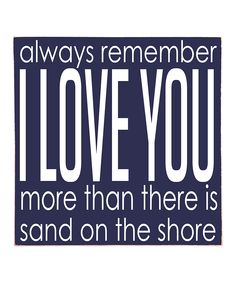 Navy & White 'I Love You' Wall Art | Daily deals for moms, babies and kids