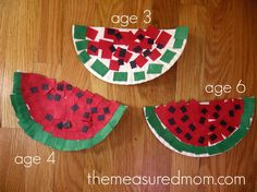 paper watermelons1 590x442 11 Crafts for Letter W
