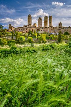 Birthplace of Pasta - San Gimignano in Tuscany, Italy