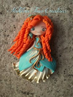 Merida azure flower dress polymer clay | Flickr - Photo Sharing!