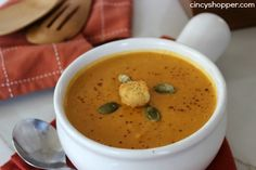 If you are needing a perfect fall soup recipe this Copycat Panera Autumn Squash Soup is going to be perfect. Soup during the fall is a staple in our househo