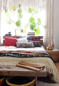 Eclectic Bedroom Inspiration. Get inspired by Confident Living!