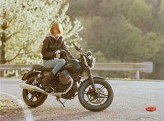 scott pommier moto guzzi motorcycle ad photo
