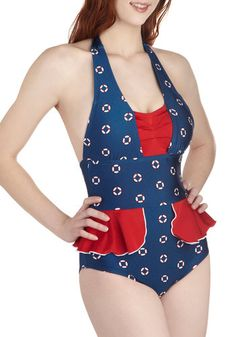 so cute!    Float an Idea One Piece, #ModCloth
