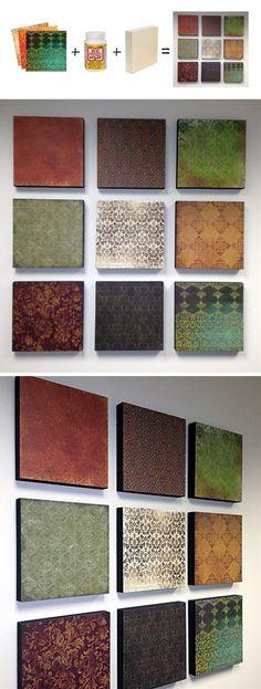 Scrapbook Paper Panels